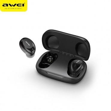 ΑWEI T20 Ασύρματα Bluetooth Ακουστικά με Βάση Φόρτισης (Μαύρο)