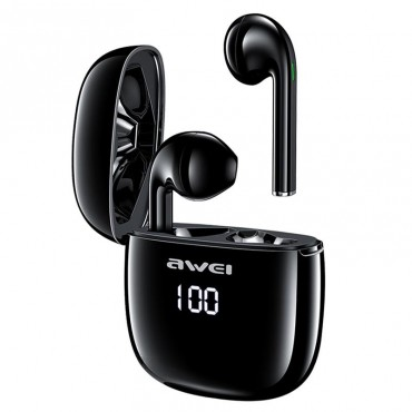 Ασύρματα Ακουστικά Awei T28P Wireless FULL Stereo Sound Black Bluetooth