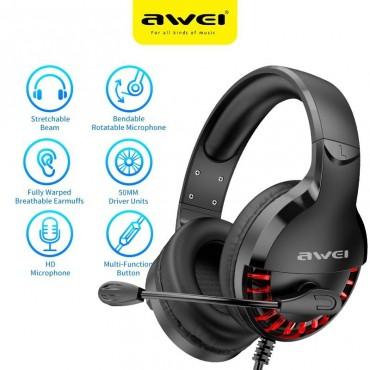 Gaming ακουστικά με μικρόφωνο awei es-770i black