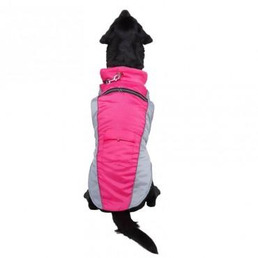 Αδιάβροχο αντιανεμικό μπουφάν ροζ