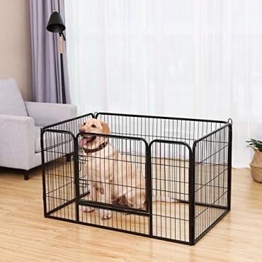 Μεταλλικό Κλουβί - Πάρκο Εκπαίδευσης Σκύλου Βαρέως Τύπου feandrea 122x80x70cm