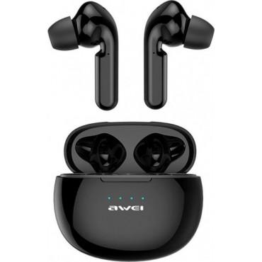 Mini Bluetooth Ακουστικά TWS με Θήκη Φόρτισης - AWEI T15 (Μαύρο)