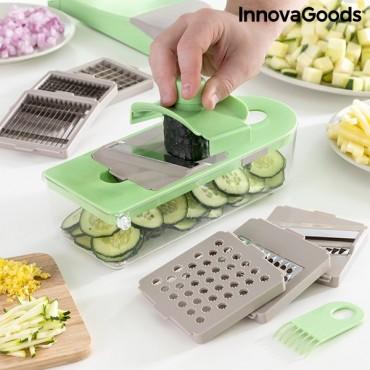 Κόφτης λαχανικών, τρίφτης και μαντολίνο με συνταγές και αξεσουάρ 7 σε 1 Choppie Expert InnovaGoods