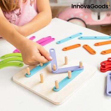 Ξύλινο Παιχνίδι για να Σχηματίσουν Γράμματα,Αριθμούς και σχέδια Koogame InnovaGoods 27 τεμάχια