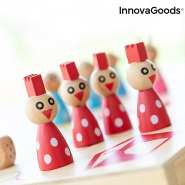 Ξύλινο Επιτραπέζιο Παιχνίδι γκρινιάρης με Ζώα Pake InnovaGoods 18 τεμάχια
