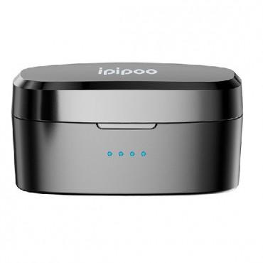 Ασύρματα Bluetooth 5.0 Ακουστικά Ipipoo TP-9 με Βάση Φόρτισης - Μαύρο