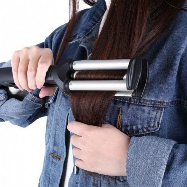 Τριπλό Ηλεκτρικό Ψαλίδι Μαλλιών για Κυματιστά Μαλλιά, Kemei KM-2022
