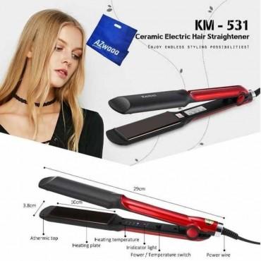 Ισιωτική μαλλιών με κεραμικές πλάκες – kemei km-531