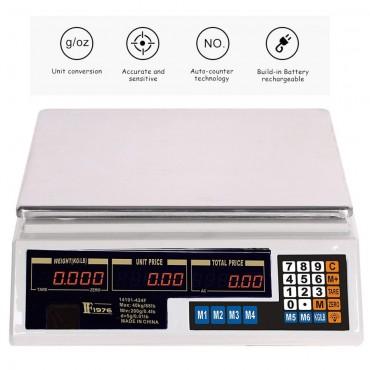 Επαγγελματική ψηφιακή ζυγαριά ακριβείας – 40kg – 14191-424F – OEM