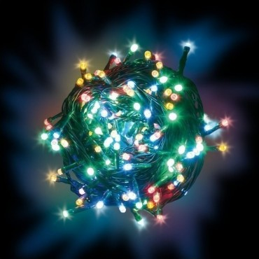 Λαμπάκια χριστουγεννιάτικα 100 Led με προγράμματα πολύχρωμα