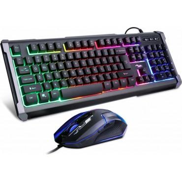 Σετ Led Gaming Keyboard και Gaming Ποντίκι Andowl Q-803