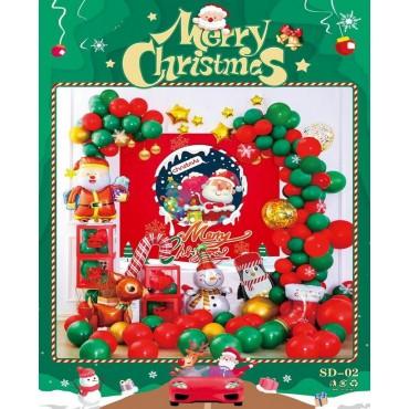 Σετ μπαλόνια χριστουγεννιάτικα 49τεμ sd-02