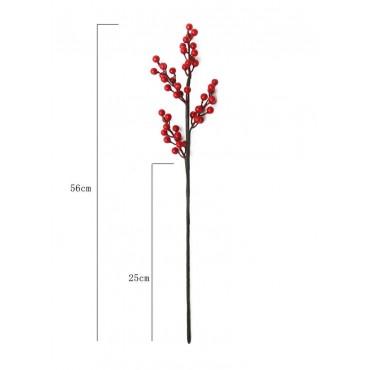 Διακοσμητικό κλαδί γκι 56cm
