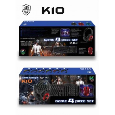 Game 4 set keyboard-mouse-headphones-mouse pad kr k10