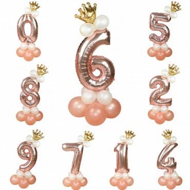 Σετ μπαλόνια αριθμοί  14τεμ 85cm
