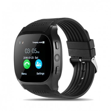Smartwatch -bluetooth - camera - sim t8 (black)