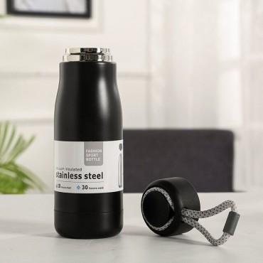 Μεταλλικός θερμός-παγούρι μαύρο 500ml