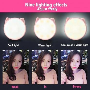 Phone selfie light cat