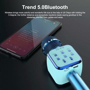 Ασύρματο Bluetooth ηχείο - καραόκε μικρόφωνο με USB ds-878 μαύρο