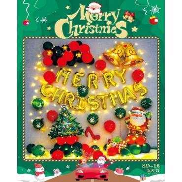 Σετ μπαλόνια χριστουγεννιάτικα 30τεμ sd-16
