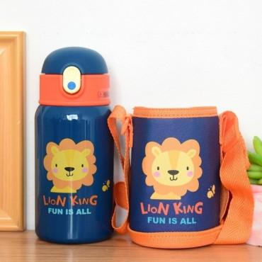 Μεταλλικός θερμός-παγούρι παιδικός 400ml lion king