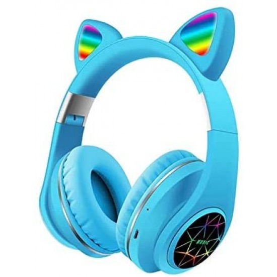 Ασύρματα Ακουστικά Bluetooth 5.0 παιδικά-εφηβικά Wireless cat ear m3 (blue)