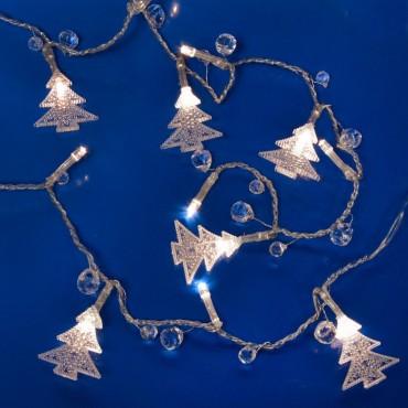 Χριστουγεννιάτικα λαμπάκια 10 led με μπαταρία tree
