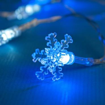 Χριστουγεννιάτικα λαμπάκια 10 led με μπαταρία snow