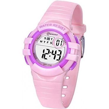 Αδιάβροχο παιδικό Ρολόϊ mingrui 8206 ροζ