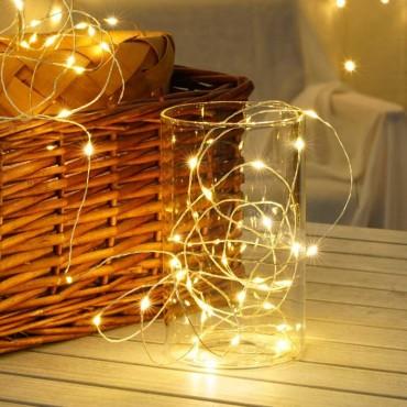 Χριστουγεννιάτικα λαμπάκια σύρμα 20 led με μπαταρία