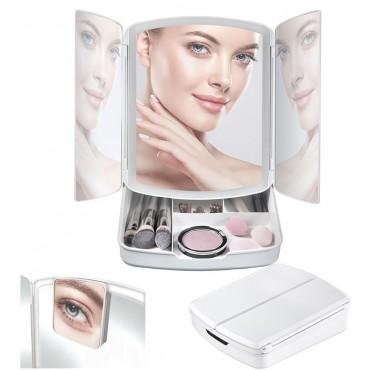 Πτυσσόμενος Καθρέφτης με φωτισμό LED και χώρο αποθήκευσης my fold away