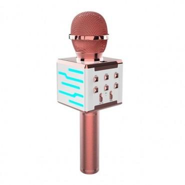 Ασύρματο μικρόφωνο Επαγγελματικό με Ενσωματωμένο Ηχείο pink– ds868 – OEM