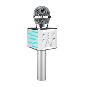 Ασύρματο μικρόφωνο Επαγγελματικό με Ενσωματωμένο Ηχείο silver– ds868 – OEM