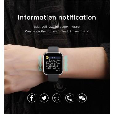 Smartwatch T99 bluetooth κλήσεις + ΔΩΡΟ Ανταλλακτικό Μεταλλικό Λουράκι (Μαύρο)