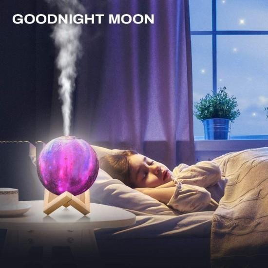 Υγραντήρας + Συσκευή Αρωματοθεραπείας - moon lamp- OEM mx-09