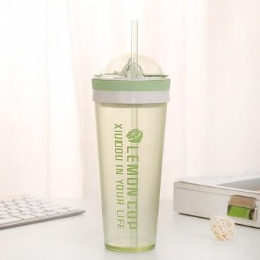Ποτήρι με στίφτη πράσινο 600ml