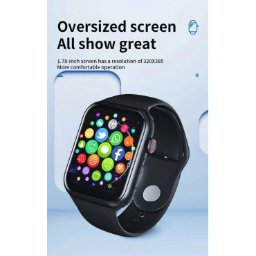 Smartwatch Z18 bluetooth κλήσεις + ΔΩΡΟ Ανταλλακτικό Μεταλλικό Λουράκι (μαύρο)