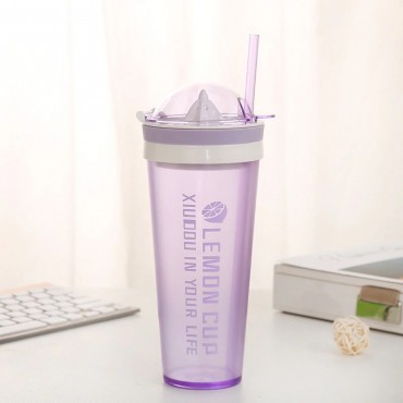 Ποτήρι με στίφτη μοβ 600ml