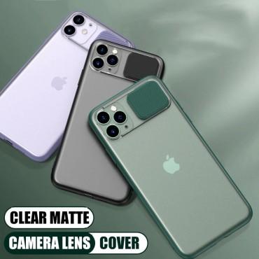 Θήκη διαφανη με slider για την camera για iphone 7/8 green