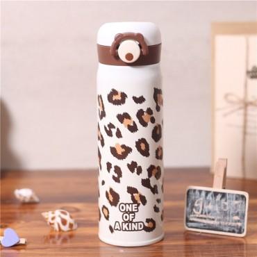 Μεταλλικός θερμός-παγούρι 350ml leopard