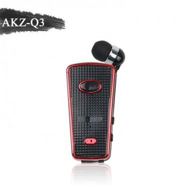 Ασύρματο Ακουστικό Bluetooth akz-q3 - Μαύρο-κόκκινο