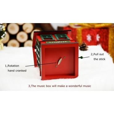 Χριστουγεννιάτικο διακοσμητικό σπιτάκι με μουσική