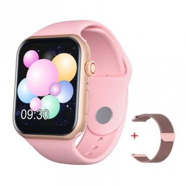 Smartwatch Z18 bluetooth κλήσεις + ΔΩΡΟ Ανταλλακτικό Μεταλλικό Λουράκι (ροζ)