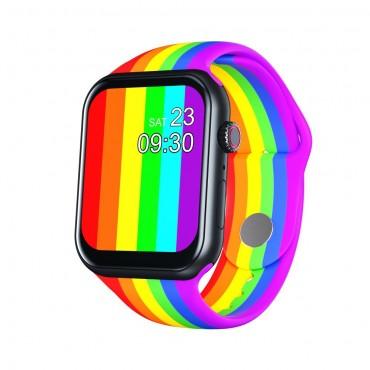 Smartwatch Z18 πολύχρωμο bluetooth κλήσεις + ΔΩΡΟ Ανταλλακτικό Μεταλλικό Λουράκι