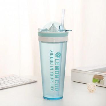 Ποτήρι με στίφτη μπλε 600ml