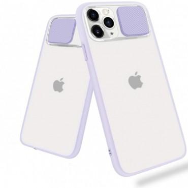 Θήκη διαφανη με slider για την camera για iphone 7/8 purple