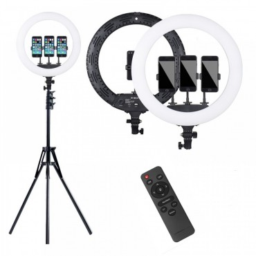Επαγγελματικό Φωτογραφικό Φωτιστικό Δαχτυλίδι Ring Lamp Light LED USB 43cm με τρίποδο και τηλεκοντρόλ