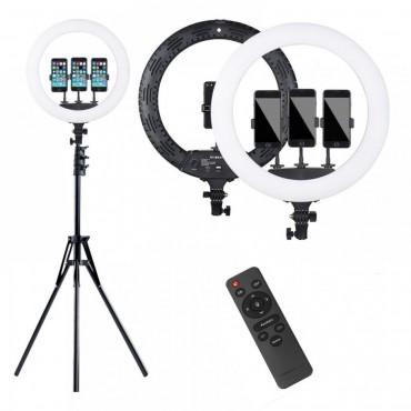 Επαγγελματικό Φωτογραφικό Φωτιστικό Δαχτυλίδι Ring Lamp Light LED USB 53cm με τρίποδο και τηλεκοντρόλ