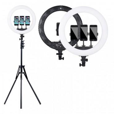 Επαγγελματικό Φωτογραφικό Φωτιστικό Δαχτυλίδι Ring Lamp Light LED USB 33cm με τρίποδο και τηλεκοντρόλ