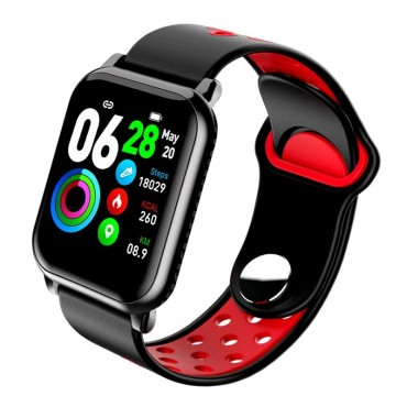 Smartwatch - bluetooth ky11 (black-red)